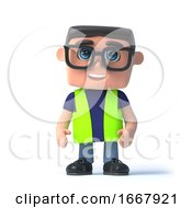 Poster, Art Print Of 3d Health And Safety Officer