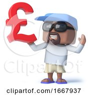 3d Sailor Dude With UK Pounds Sterling Currency Symbol
