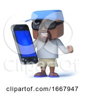 3d Sailor Dude Has A Smartphone Tablet Device