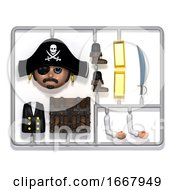 3d Plastic Pirate Construction Kit