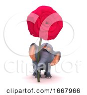 Poster, Art Print Of 3d Elephant Romantic