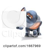 3d Elephant Advertises