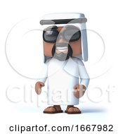 3d Arab Wearing Sunglasses