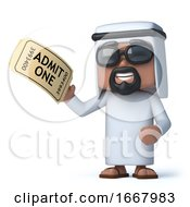 3d Arab Has A Ticket To The Show