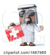 3d Arab Has A First Aid Kit