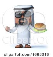 3d Arab Eats A Beefburger