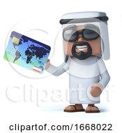 3d Arab Pays With A Credit Card