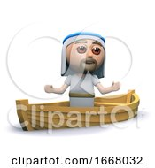3d Jesus On A Boat
