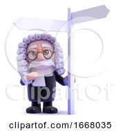 3d Judge At Signpost