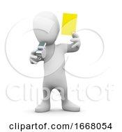 3d Yellow Card Man