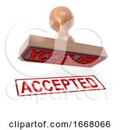 3d Accepted Stamp