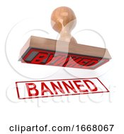 3d Banned Stamp