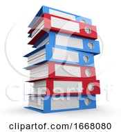 3d Tower Of Folders