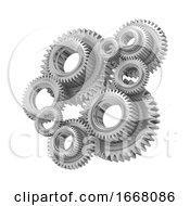 Poster, Art Print Of 3d Steel Gears