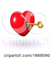 Poster, Art Print Of 3d Unlocked Heart