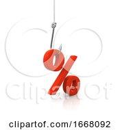 3d Hooked Percent Symbol