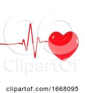 Poster, Art Print Of 3d Heart Pulse