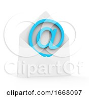 Poster, Art Print Of 3d Email Message In Envelope
