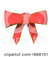 Poster, Art Print Of 3d Red Bow