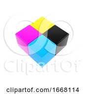 3d CMYK Cubes by Steve Young