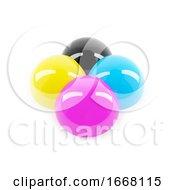 3d Glossy CMYK Colour Balls