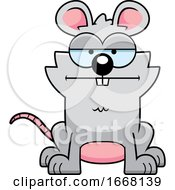 Cartoon Bored Mouse