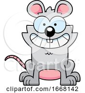 Cartoon Grinning Mouse
