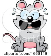 Cartoon Scared Mouse