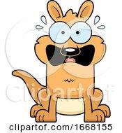 Cartoon Scared Kangaroo