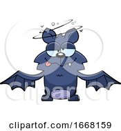 Cartoon Drunk Flying Bat