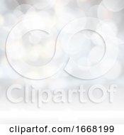 Silver Bokeh Lights Background