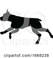 Poster, Art Print Of Dog Silhouette Pet Animal