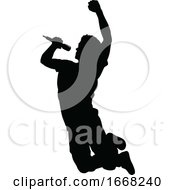 09/10/2019 - Singer Pop Country Or Rock Star Silhouette