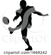 09/10/2019 - Silhouette American Football Player