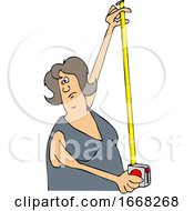 Woman Using A Tape Measure