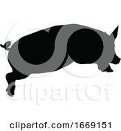 09/14/2019 - Pig Silhouette Farm Animal