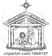 09/14/2019 - Nativity Scene Christmas Cartoon