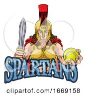 Spartan Trojan Gladiator Tennis Warrior Woman