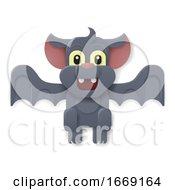 Halloween Cute Vampire Bat Cartoon by AtStockIllustration