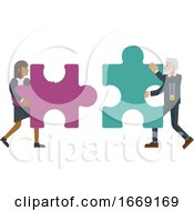 09/14/2019 - Puzzle Piece Jigsaw Characters Business Concept