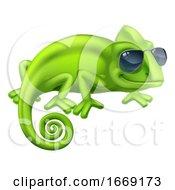 09/14/2019 - Chameleon Cool Shades Cartoon Lizard Character