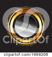 Abstract Background With Metallic Circular Frames
