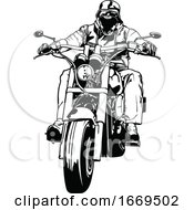 Black And White Biker