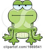 Cartoon Bored Frog