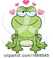 Cartoon Loving Frog