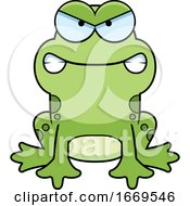 Cartoon Mad Frog