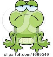 Cartoon Sad Frog