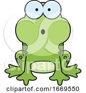 Cartoon Surprised Frog