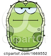 Cartoon Calm Green Cell Germ