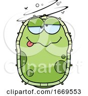 Cartoon Drunk Green Cell Germ